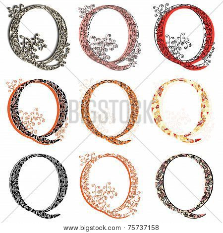 Various Combination Fishnet Letter Q.