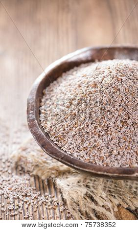 Psyllium Seeds In A Bowl