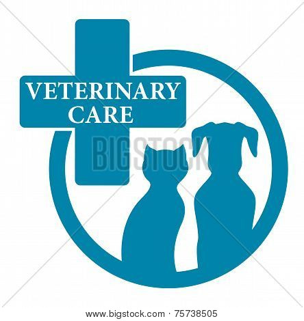 Blue Medical Veterinary Sign
