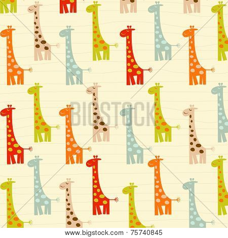 Pattern With Giraffes