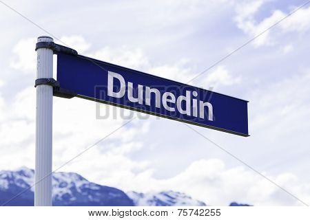 Dunedin sign in New Zealand