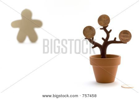 Money Tree and Figure