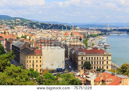 Hungary, Budapest- July 24: A View To Budapest On July 24, 2014. Budapest Is One Of The Most Visited