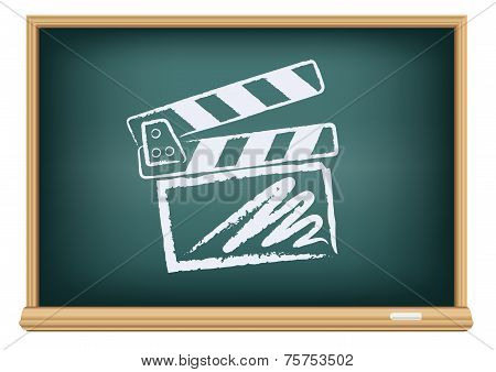 board cinema clapper board