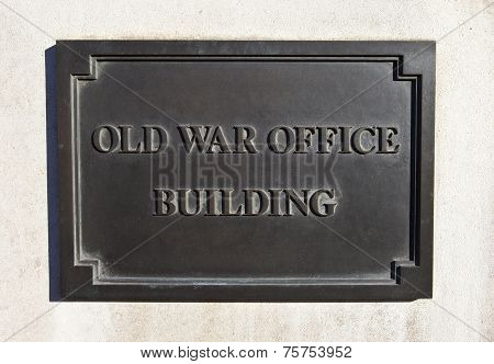 Old War Office Building In London