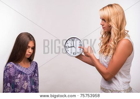 Young mother and teenager daughter