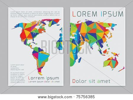 Word map. Vector  business brochure or magazine cover  template