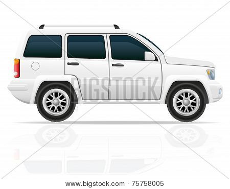 Car Off Road Suv Vector Illustration