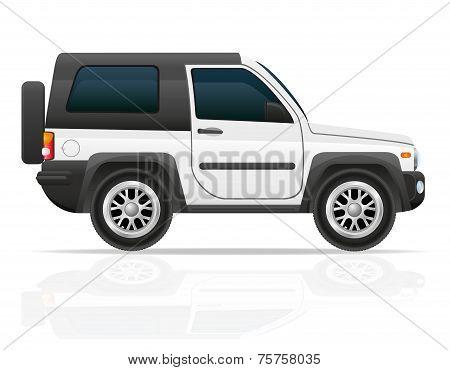 Car Off Road Suv Vector Illustration