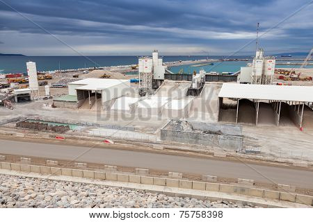 New Terminals Area Under Construction In Port Tanger-med 2