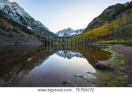Maroon Bells Sunrise Aspen Colorado
