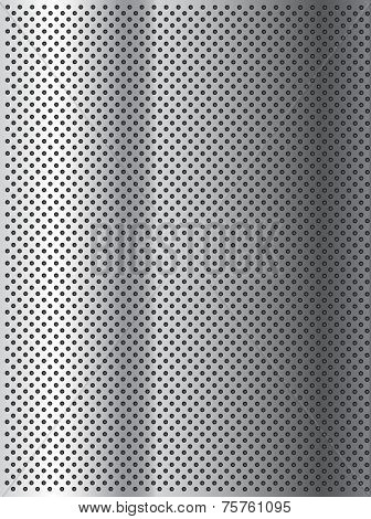 Concept conceptual gray abstract metal stainless steel aluminum perforated pattern texture mesh background as metaphor to industrial, abstract, technology, grid, silver, grate, spot, grille surface