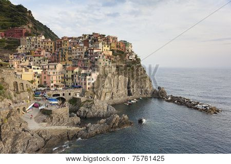 View Of Manarola, La Spezia, Liguria, Italy