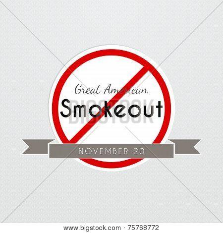 Graet American Smokeout poster