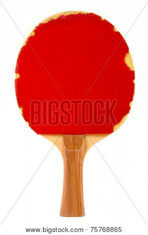 Pingpong racket isolated on white background