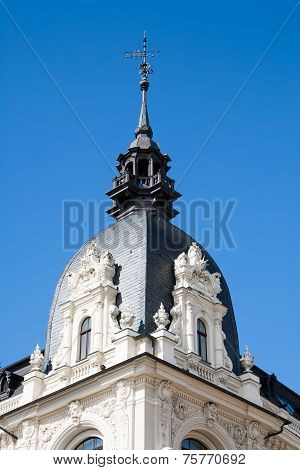 Riga, Fragment Of Building With Weather Vane