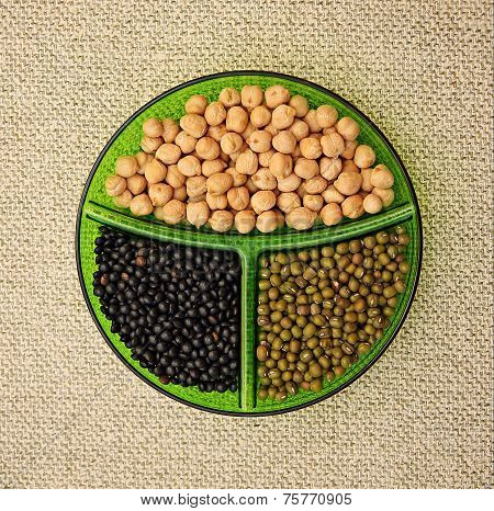Chick-pea, Mung Bean And Black Lentils