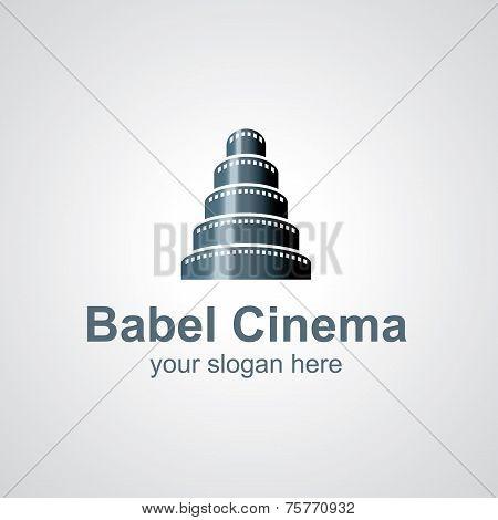 Babel Cinema Vector Logo Design
