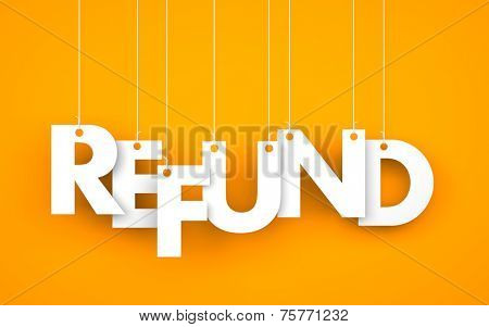 Refund. Text on the ropes