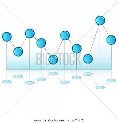 An image of a 3d pinhead line chart.