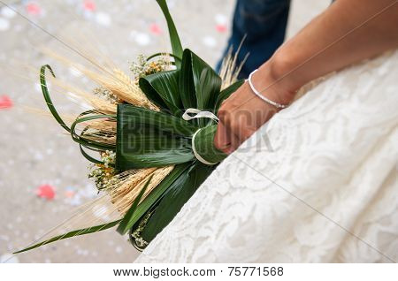 The Bride's Bouquet During A Wedding Party