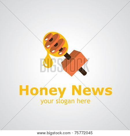 Honey News Vector Logo Design