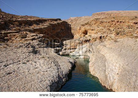 Rocky water canyon