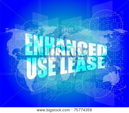 Management Concept: Enhanced Use Lease Words On Digital Screen