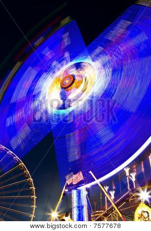merry-go-round with ferris wheel