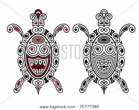 Vector Turtle, Tattoo Style