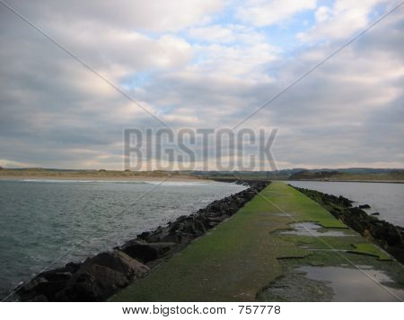 Long straight road in northern ireland