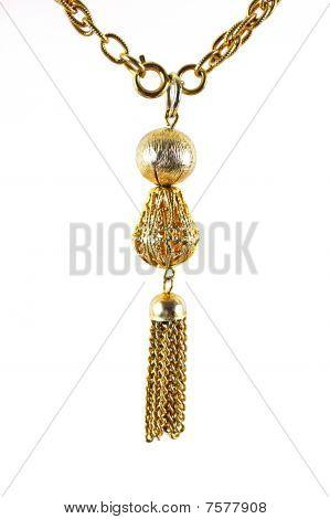 Close View Golden Chain Necklace