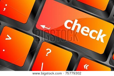 Check Button On Computer Pc Keyboard Key