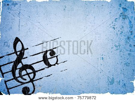 Abstract grunge melody textures and backgrounds with space