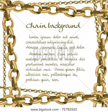 Frame From Large And Small Chain