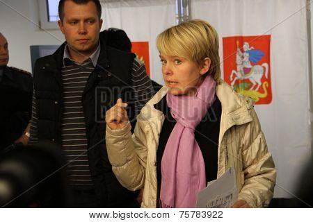Candidate for mayor of Khimki opposition leader Yevgeniya Chirikova