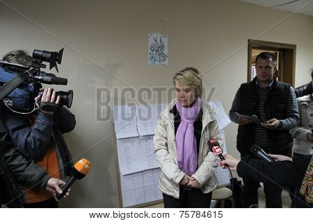 Candidate for mayor of Khimki opposition Evgeniya Chirikova