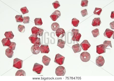 Collection Of Many Red Beads