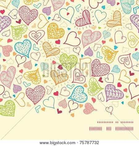 Vector doodle hearts heart silhouette pattern frame