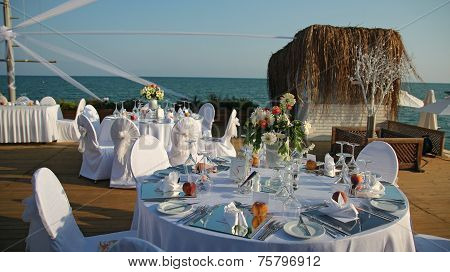 Outdoor Wedding Reception Setting