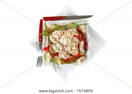 Dumplings With Peppers