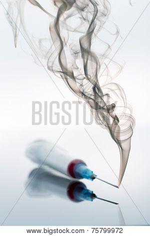 Syringe and smoke