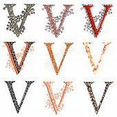 pic of fishnet  - Set of variations fishnet  - JPG