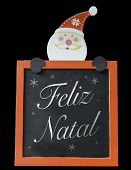 stock photo of natal  - Christmas Blackboard written Merry Christmas  - JPG