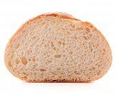 stock photo of hunk  - Hunk or slice of fresh white bread isolated on white background cutout - JPG