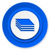 stock photo of gage  - layers icon - JPG