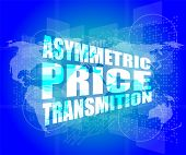 image of asymmetric  - business concept asymmetric price transmition digital touch screen interface - JPG
