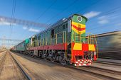 image of high-speed train  - High speed diesel train on a clear day - JPG