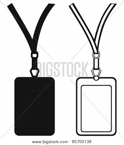 Blank badge with neckband