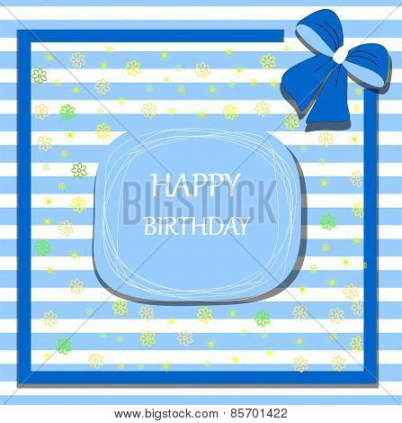 happy birthday card ribbon bow
